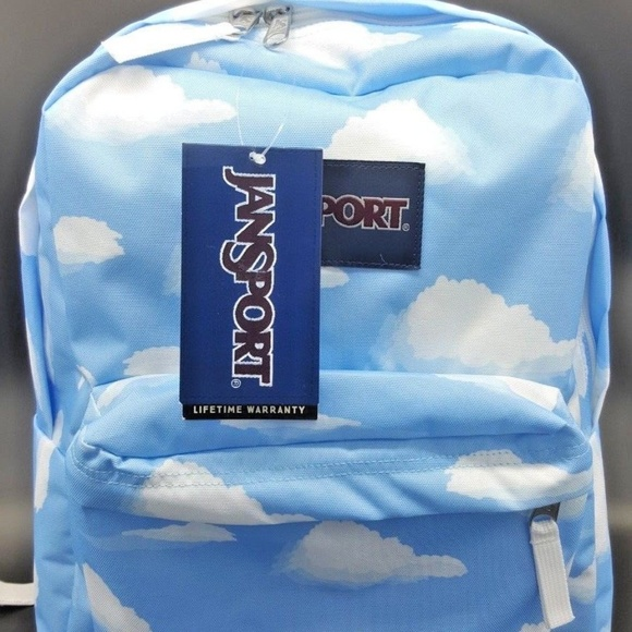 fashion style modern design fashion design Jansport Superbreak Backpack Partly Cloudy Unisex NWT